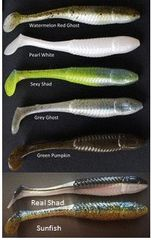 "3-1/2"" Shur-Minnow Watermelon/Red Ghost 7ct"