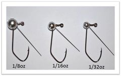 Wacky Jig 1/16oz unpainted - 5ct