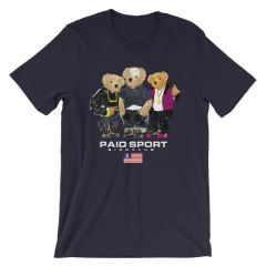 Paid In Full Paid Sport Polo Bear shirt (NAVY)