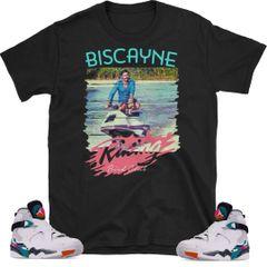 "South Beach Jordan 8 ""Biscayne Racing"" shirt"
