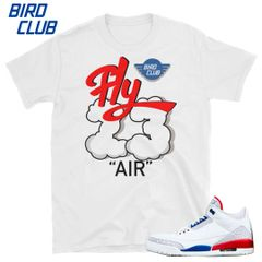 International Flight Air Jordan 3 shirt to match