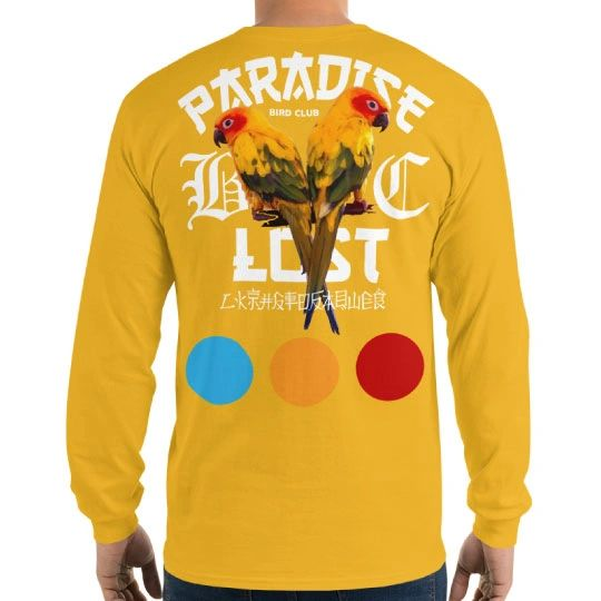 Parrots of Paradise Gold Long Sleeve