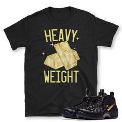 Pro Black Metallic Gold foamposite shirt