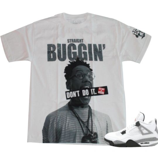 "AIR JORDAN 4 ""CEMENT"" BUGGIN OUT SHIRT"