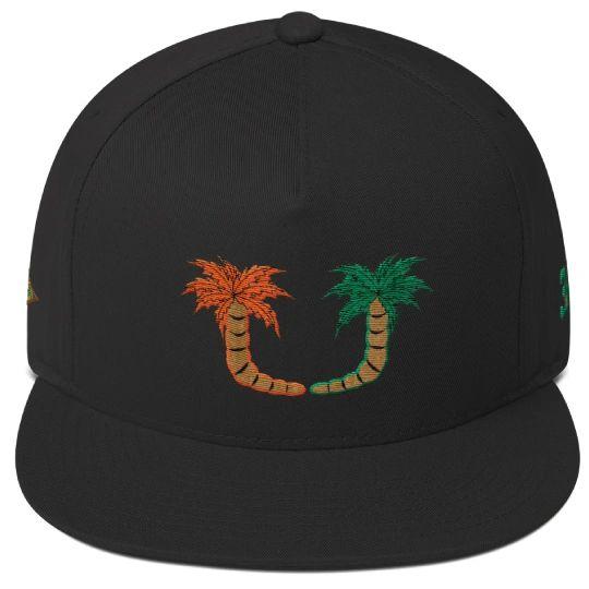 Miami Cane Palm Tree Snapback Hat