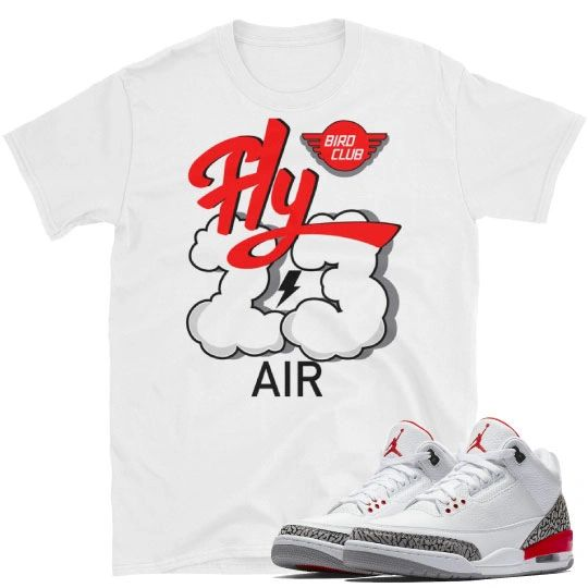 Katrina Hall of Fame Jordan 3's Matching shirt