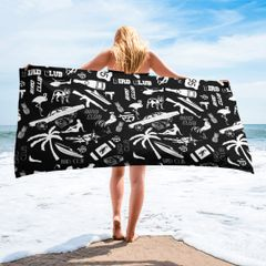 "Beach Towel ""Everything Miami"" 30 x 60"