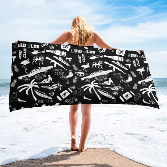 "Beach Towel ""Everything Miami"" 30 x 60"