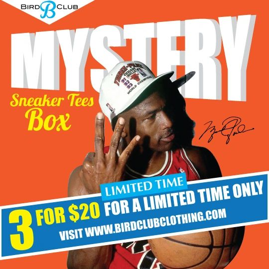 3 Sneaker Tees for $20 MYSTERY Box