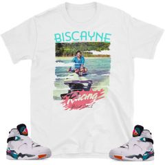 "South Beach Jordan 8 ""Biscayne"" shirt"