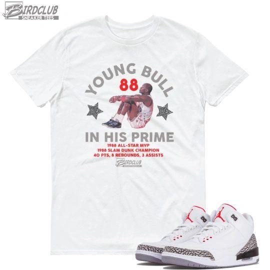 Retro 3 white cement matching shirt
