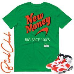 "New Money shirt to match Air Jordan 6 ""Gatorade"""