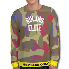 Ruling Elite Camo Members Only Sweater