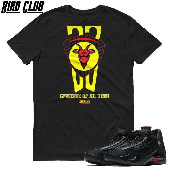 GOAT Jordan 14 restro Last Shot shirt