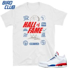 "Air Jordan 3 ""International Flight"" Hall of Fame shirt"