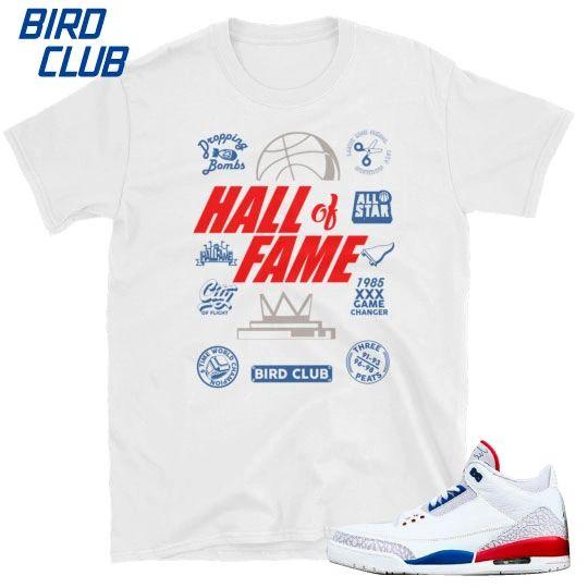 "Air Jordan 3 ""International Flight"" Hall of Fame shirt"