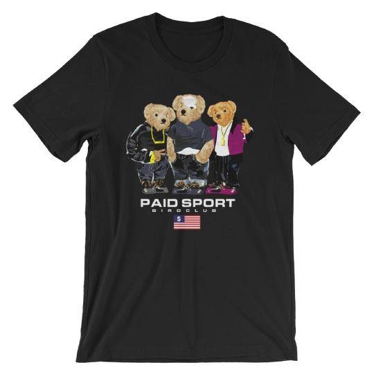 """Paid Sport """"Paid in Full"""" Polo Bear shirt"""