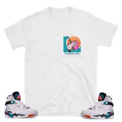"South Beach Jordan 8 ""FLA Lotto"" shirt"