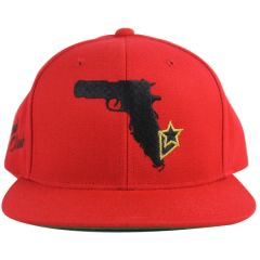 Florida Natives Gun map snapback