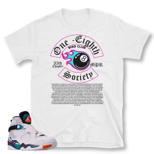 South Beach Jordan 8 matching shirt