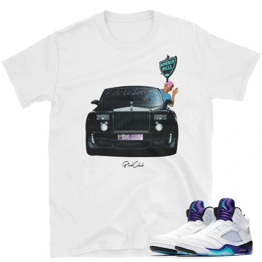 Fresh Prince Jordan 5 matching shirt