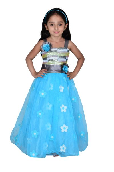Girls Party Wear Gown (B-33) | Justdeal