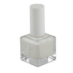 ADRIANNE K, NONTOXIC 10-FREE WHITE SHIMMER NAIL POLISH, TWINKLE, .51 FL OZ, VEGAN