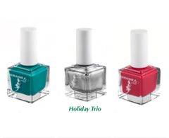 ADRIANNE K, NONTOXIC ORGANIC HOLIDAY TRIO GIFT SPECIAL. KID-SAFE. RED, GREEN & SILVER. CHRISTMAS COLORS!