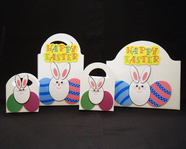 Happy easter bunny with eggs gift box hah designs happy easter bunny with eggs negle Image collections