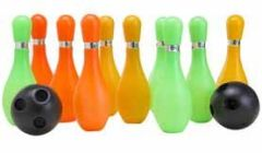 Bowling Game Set 10 Bottles & 2 Balls Multi Colour