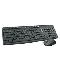 Logitech Mk235 Wireless Keyboard Mouse Combo-Black