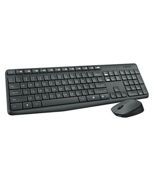 Logitech Mk235 Wireless Keyboard Mouse Combo-Black