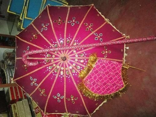 Kasi yatra set silk cotton fabric decorated with rich kundans, brooches and laces