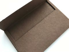 A9 Envelopes, Square Flap Style for Wedding Invitation and Social Communication - Cocoa Chocolate Dark Brown colored cotton envelope (Pack of 25 envelopes)