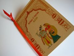 Indian Wedding Program Booklet Radha Krishna Toran