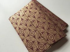A1/ 4 Bar Envelopes for Indian Wedding Invitation RSVP card - Burgundy and Gold Leaf print (25 Pack)