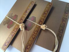 Antique Gold with Kalash Design Money Envelope - Gift Box