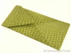 #10 Premium Envelopes - made from Green Leather Finished Paper, for Special Commercial, Wedding and Corporate Stationery