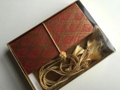 Red Gold Diamond Print Money Envelope - Gift Box