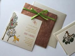 Indian Wedding Invitation & RSVP Card - Vrinda Van the Enchanted Forest (Crane)