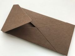 #10 size Envelopes, Euro Style for Social, Corporate use or for Wedding Invitation - Chocolate colored cotton envelope (Pack)