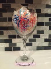 Fireworks III Wine Glass