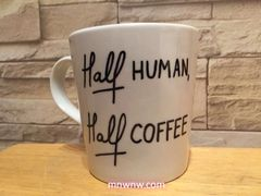 """Half-Human, Half-Coffee"" Coffee Mug"