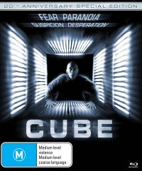 Cube (20th Anniversary Edition) Blu-Ray (Region Free)
