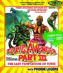 Toxic Avenger Part III: The Last Temptation Of Toxie Blu-Ray/DVD