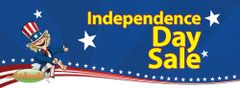 4th of July / Independence Day Sale Vinyl Banner - 3' x 8'