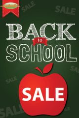 Back to School Sale Glossy Poster