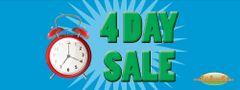 4 Day Sale Vinyl Banner - 3' x 8'