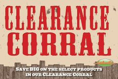 Clearance Corral Mini Poster (20 pack)