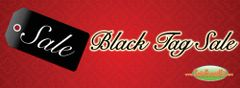Black Tag Sale Vinyl Banner - 3' x 8'